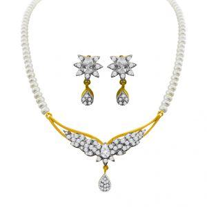 Pearl Earrings - Sri Jagdamba Pearls Catherine Pearl Set -jpjan-17-053
