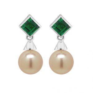 18kt Gold Flawless Emerald Earrings