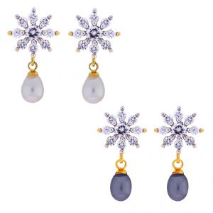 Sri Jagdamba Pearls Combo Of 2pair Star Earrings(code-jpjl-17-25c)