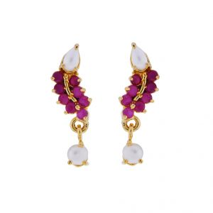 Sri Jagdamba Pearls Semi Precious Stone Earrings(code-jpjl-17-32)