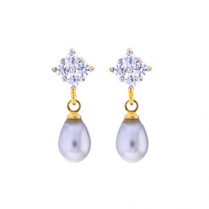 Sri Jagdamba Pearls Lovely Drop Earrings(code-jpjl-17-35)