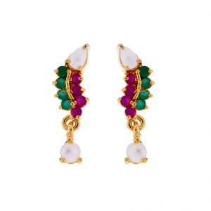 Sri Jagdamba Pearls Multi Stone Earrings(code-jpjl-17-38)