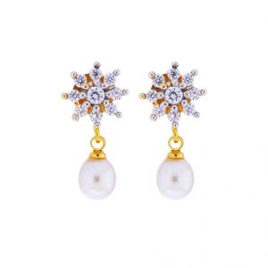 Triveni,Tng,Jagdamba Pearl Earrings - Sri Jagdamba Pearls pretty Pearl Drop Earrings(Code-JPJL-17-46)