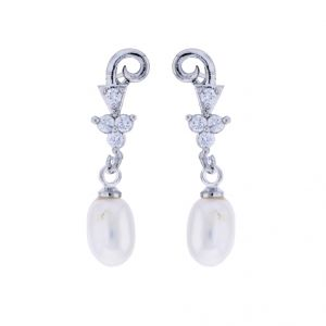 Sri Jagdamba Pearls Young Girl Pearl Earrings(code-jpjl-17-53)