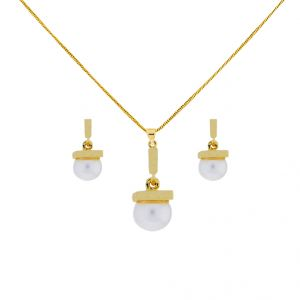 Sri Jagdamba Pearls Drop Pendant Set (code-jpjl-17-83)