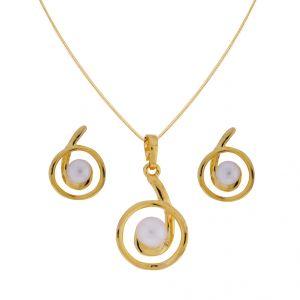 Pearl pendants buy pearl pendant online rediff shopping pearl pendants sri jagdamba pearls circular pendant setcode jpjl 17 aloadofball Gallery