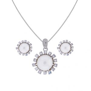 Sri Jagdamba Pearls Attractive Cz Pendant Set(code-jpjl-17-96)