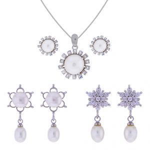 Jagdamba Pearl Pendants - Sri Jagdamba Pearls Fashion Wear Combo(Code-JPJL-17-96C)