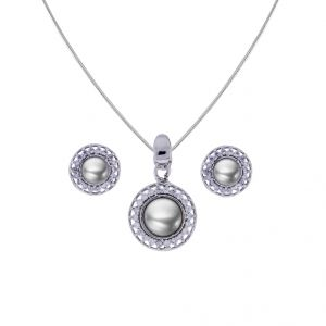 Sri Jagdamba Pearls Pearl With Cz Pendant Set(code-jpjl-17-98)