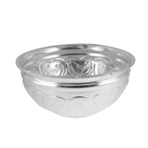 Jagdamba Home Decor ,Kitchen  - Jpearls Print Silver Bowl
