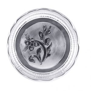 Jpearls Well Designed Silver Thali