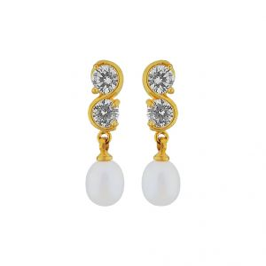 Sri Jagdamba Pearls Bling Drop Pearl Earrings Code Jpjun-16-229