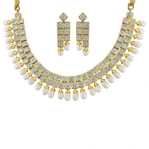 Jagdamba Necklace Sets (Imitation) - Sri Jagdamba Pearls Traditional Necklace Set   Code JPJUN-16-244