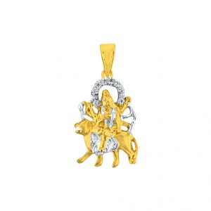 Jagdamba Diamond Pendants, Sets - Sri Jagdamba Pearls Durga Diamond Pendant Code JPJUN-16-32