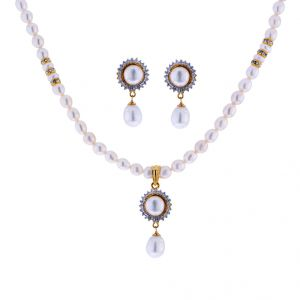 Trendy Pearl Necklace Set Code-jpjun-17-0025