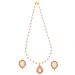 Designer Necklace Set By Sri Jagdamba Pearls ( Jpjun-18-101_2018 )