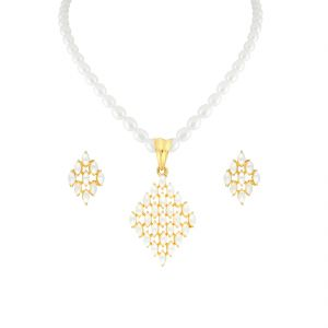 Jagdamba,Clovia,Sukkhi Women's Clothing - UNIQUE DESIGN PEARL NECKLACE SET (JPJUN-18-104 )