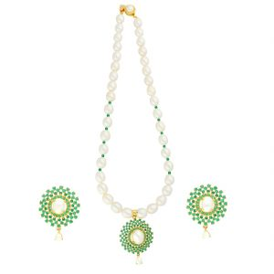 Kiara,Sparkles,Jagdamba,Cloe,Ag Women's Clothing - Combination Of Pearls Necklace By Sri Jagdamba Pearls ( JPJUN-18-107_2018 )
