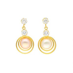Jagdamba,Clovia,Vipul,Flora,Tng Women's Clothing - Dual Stone Earrings By Sri Jagdamba Pearls ( JPJUN-18-201_2018 )