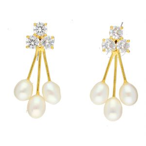 soie,unimod,see more,cloe,jagdamba,bikaw Earrings (Imititation) - Berry Drop Earrings By Sri Jagdamba Pearls ( JPJUN-18-203_2018 )