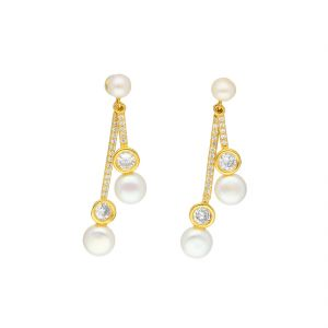 Jagdamba,Sparkles Women's Clothing - Fashionable Hanging By Sri Jagdamba Pearls ( JPJUN-18-205_2018 )