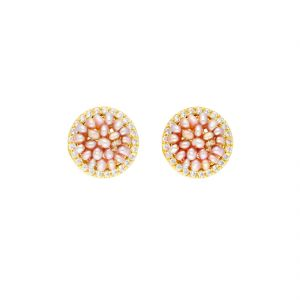 valentine,mahi fashions,Hoop,Jagdamba Earrings (Imititation) - Party Wear Earrings By Sri Jagdamba Pearls ( JPJUN-18-206_2018 )