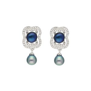 Kiara,La Intimo,Cloe,Jagdamba Women's Clothing - LADY DROP EARRINGS BY SRI JAGDAMBA PEARLS (JPJUN-18-211 )