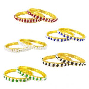 Jagdamba Women's Clothing - JPEARLS AMAZING 5 BANGLES SET
