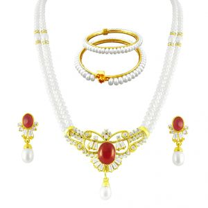 Jpearls Astral Pearl Necklace Set