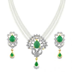 Jagdamba Pearl Necklaces - Jpearls Princess Aoura Pearl Necklace Set