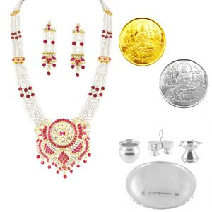 Jagdamba Necklace Sets (Imitation) - JPEARLS SPECIAL HAMPER