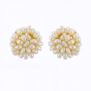 Kiara,Jagdamba,Platinum Women's Clothing - Jpearls Jasmine Earrings