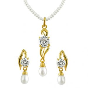 rcpc,ivy,soie,bagforever,flora,triveni,jagdamba,sleeping story Pearl Necklaces - jpearls pearl pendent set