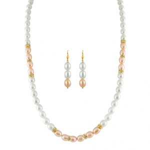 Jagdamba Necklace Sets (Imitation) - Jpearls AAA Quality Fresh Water Pearl Set