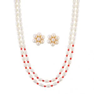 Jpearls Royal Flora Necklace Set