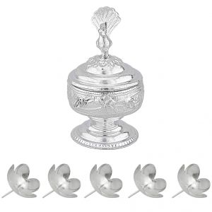 Jagdamba Home Decor & Furnishing - Sri Jagdamba Pearls Peacock Puja Kum Kum Dabbi Code JPOCT-15-022NF