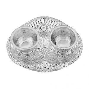 Jagdamba,Bonjour Silverware - Jpearls  Indian Traditional Puja Thali
