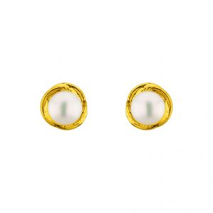 Triveni,Platinum,Jagdamba,Flora,Ag,Estoss Women's Clothing - Sri Jagdamba Pearls Jalebi Pearl Earrings ( JPOCT-15-063 )