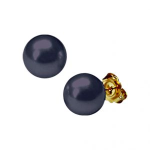 Triveni,Tng,Jagdamba Pearl Earrings - jpearls black button pearl tops