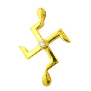 Jpearls Swastik Diamond Pendent- For Mens