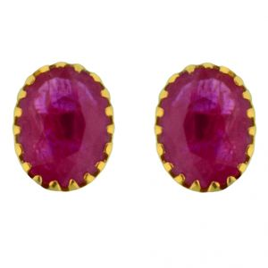 Jpearls Yakshita Ruby Gold Earrings