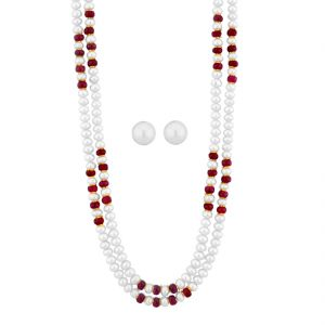 Pearl Jewellery - Jpearls Ruby Necklace Set