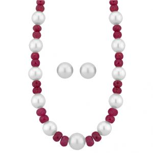 Jpearls White Pearl Set