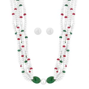 Jpearls Angelina Pearl Necklace Set