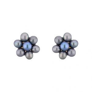lime,surat tex,jagdamba,sangini Earrings (Imititation) - Sri Jagdamba Pearls Grey Pearl Earrings ( JPSEP-15-193 )