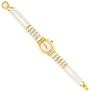 Jagdamba Watches for Women   Round Dial   Analog (Misc) - Jpearls  Siyya  Pearl Watch