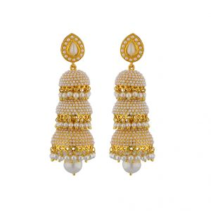 Jpearls Traditional Pearl Jhumkis