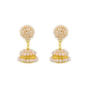 Pearl Earrings - Jpearls  Magnificent Pearl  Jhumkis