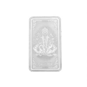 20 Grams Bar Lakshmi Pure Silver Coin ( Jpsep-18-349-20 )