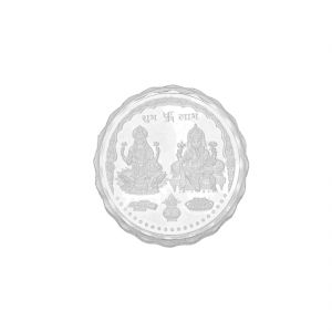 Hoop,Shonaya,Arpera,The Jewelbox,Gili,Jagdamba,Parineeta,Pick Pocket Women's Clothing - 20 Grams Lakshmi Ganesh Pure Silver coin ( JPSEP-18-354-20 )